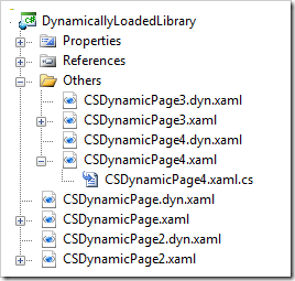 File structure of the sample application.