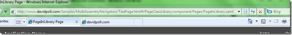http://www.davidpoll.com/Samples/MultiAssemblyNavigation/TestPage.html#/PageClassLibrary;component/Pages/PageInLibrary.xaml