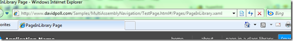 http://www.davidpoll.com/Samples/MultiAssemblyNavigation/TestPage.html#/Pages/PageInLibrary.xaml